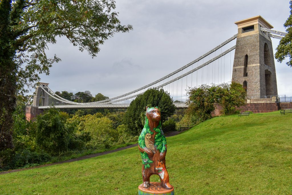Bear by Clifton suspension bridge